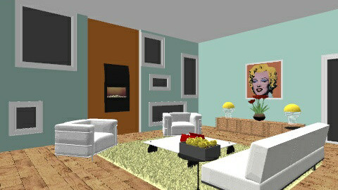 Pop art room - Living room - by Rechoppy92
