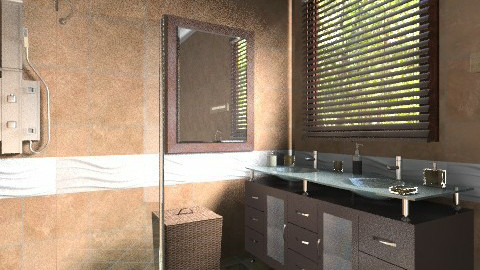 Brown 2 - Classic - Bathroom - by milyca8