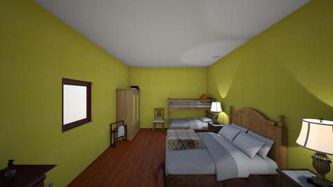 chambre 1  grand parent - Vintage - Bedroom - by eliotte
