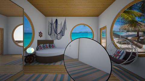 Teens Nautical Bedroom - by Cool Coder Girl