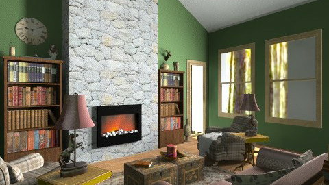 Cottage - Rustic - Living room - by MeeraPatel357