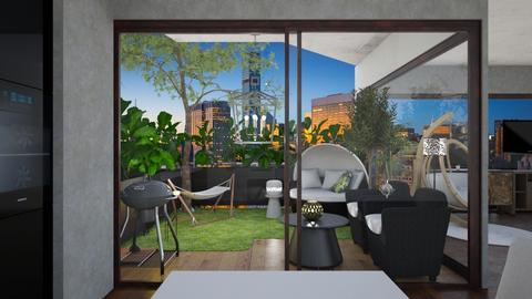 Urban Jungle terrace - Eclectic - Kitchen - by Andrula
