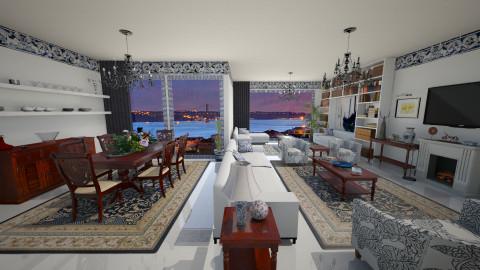 Lisbon Penthouse - Vintage - Living room - by Joao M Palla
