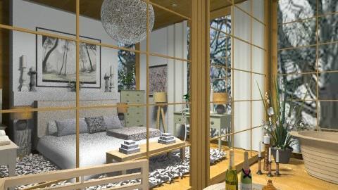 Chalet - Rustic - Bedroom - by camilla_saurus