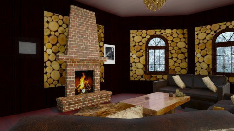 cabin  - Rustic - Living room - by jria8