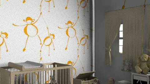 Monkey - Classic - Kids room - by hunny