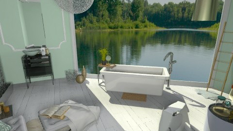 Mint and Gold_Bath - Eclectic - Bathroom - by idesine