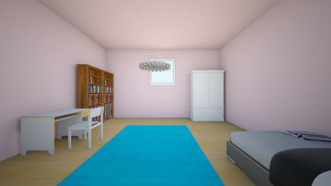 White, Pink, and Blue - Bedroom - by miracles