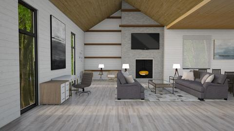 Aspen Chalet Template - Living room - by cschliass