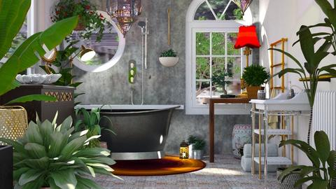 Bohemian Bath - Bathroom - by LeilaniD04