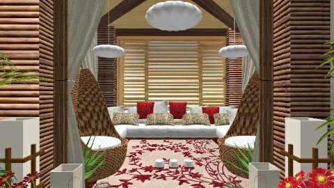 Hut Living - Living room - by Alex Yan