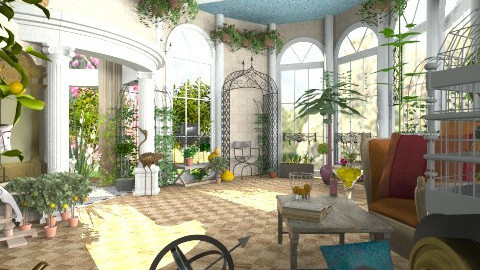 orange garden6a - Classic - Garden - by katmills98