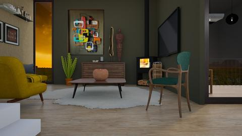 Mid Cent Mod Liv - Living room - by KimAlys