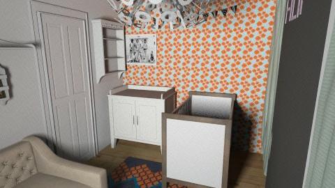 Modern lively nursery3c - Retro - Kids room - by natienka