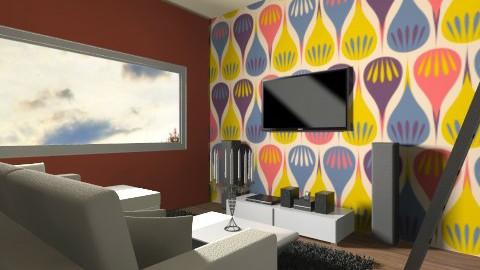 Orange living room - Living room - by vydrovamisulka1
