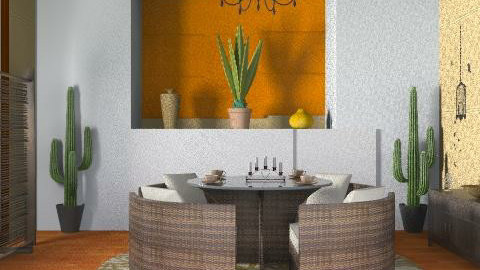 cactus - Rustic - Dining room - by ana2000