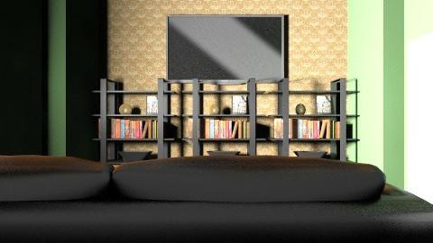green room - Retro - Living room - by AshleyRowland01