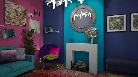 Deep shades of plum - Eclectic - Living room - by Veeveenatyisy