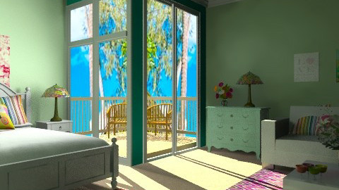 Just Beachy - Feminine - Bedroom - by egrimsley