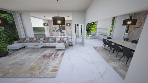 Modern living - Living room - by leoleolion