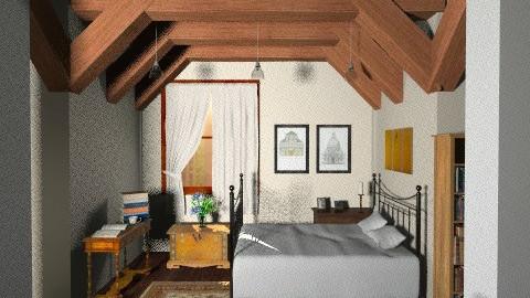 log cabin - Vintage - Bedroom - by vovisanija