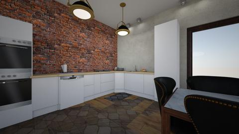 Salon Tomek indr to ten - Living room - by kxw