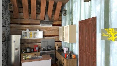 LOG Cabin 1 - Living room - by annasashan610