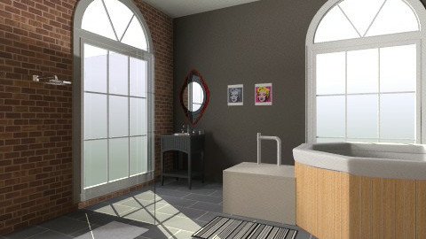 Retro  - Retro - Bathroom - by Cinnamon Blue