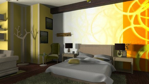 Yellow bed room - Modern - Bedroom - by moonissa