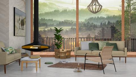 M_Misty landscape - Living room - by milyca8