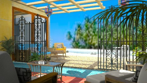 Beach Retreat - Rustic - Garden - by Bibiche