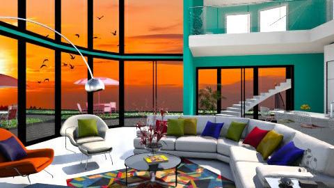 Peacock Inspiration - Modern - Living room - by XValidze