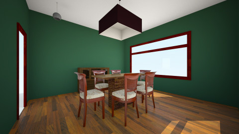 wood - Dining room - by treverford