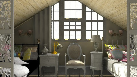 Two girls classic bedroom on the attic - Classic - Bedroom - by Laurika