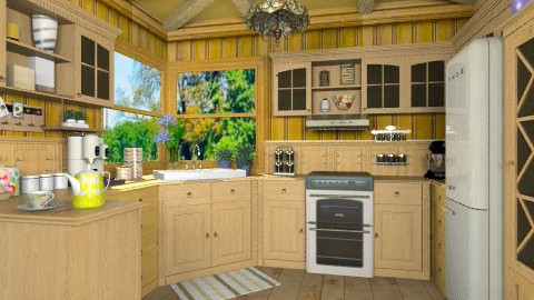 All Wood - Rustic - Kitchen - by brber