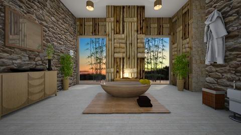 Calm - Bathroom - by Anabel Monserrate