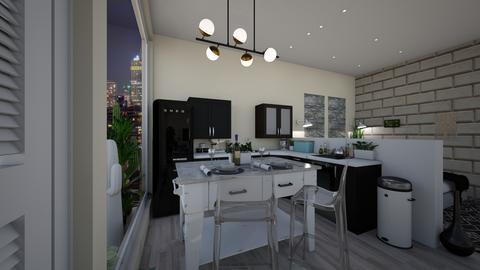 NEW YORK STUDIO kitchen 2 - by dreabaas14