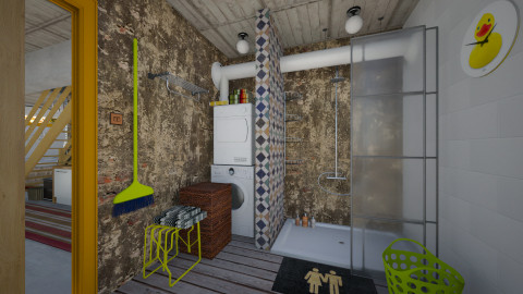 Basement Bathroom_1 - Eclectic - Bathroom - by evahassing