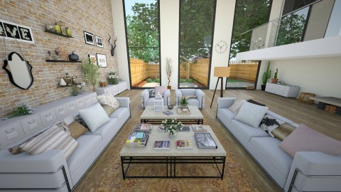 2 - Rustic - Living room - by beafreitasb