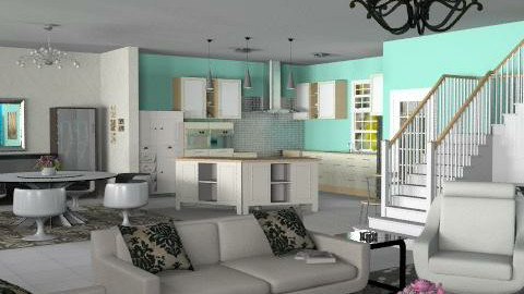 Open concept6 - Classic - Kitchen - by Bibiche