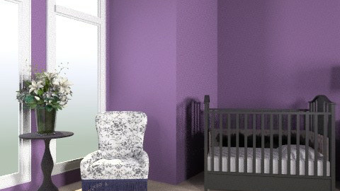 Purple Nursery - Feminine - Kids room - by egrimsley