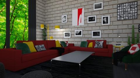 City Loft  - Living room - by timeandplace