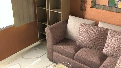 orange living room - Living room - by interior motives