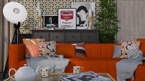 Orange - Modern - Living room - by HenkRetro1960