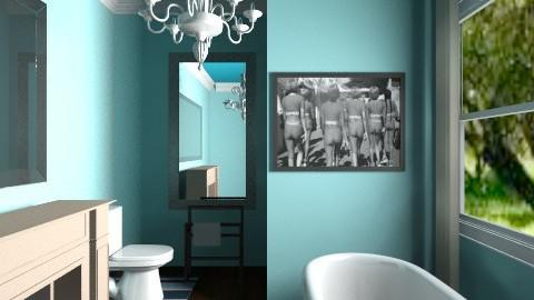 blue bathroom - Feminine - Bathroom - by dancergirl1243