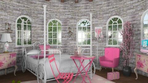 Rapunzel's pink tower - Vintage - Bedroom - by alleypea