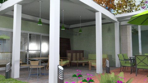 Covered patio - Modern - Garden - by Bibiche