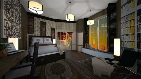 bedroom with patio - by kla