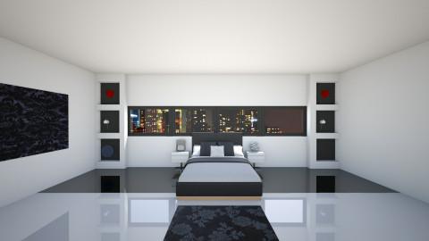B W Bedroom - Bedroom - by jillofish
