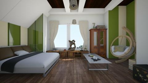 Comfortable_bedroom - Glamour - Bedroom - by linnda123222